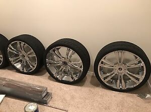 "26"" 2Crave Rims w/tires and pressure sensors"