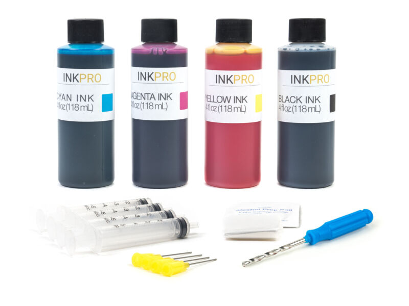 InkPro Premium Combo Ink Refill Kit for Canon PG-245/CL-246 4oz