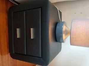 For sale: pair of leather bedside tables