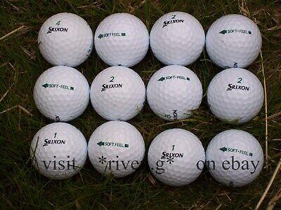 12 X SRIXON GOLF BALLS@SOFT FEEL@Grade A@PERFECT Quality@GREEN Logo@BEST