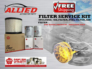 Filter Service Kit AIR OIL FUEL Toyota Hilux KUN16R KUN26R 1KDFTV 05-15 FSK005