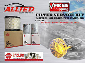 Filter Service Kit Holden RODEO 90-03 TFS55 OIL Z178A AIR HDA5767 FUEL Z169A