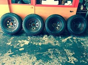 255/70R15C 112/110S 697:Bridgestone dueler: Set of 4 Tyres and wheels Summer Hill Ashfield Area Preview