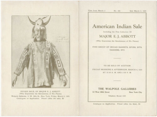 1925 Illustrated Brochure - American Indian Art Collection of Major E.J. Abbott