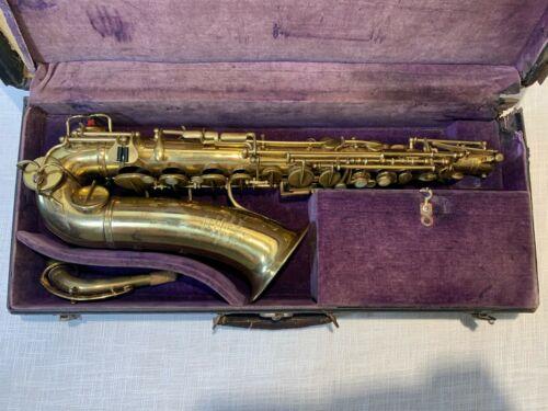RARE Vintage Adolphe Sax Low Pitch Trill Alto Saxophone Paris 1900-1907 Antique