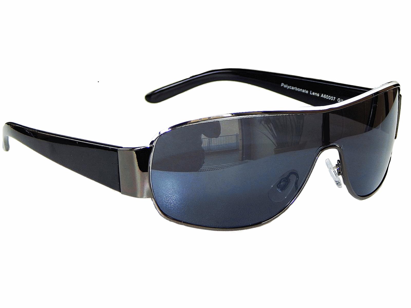 Schwarz Weiße Sonnenbrille Pilotenbrille Monoglas Sportlich M 5 Damen Herren