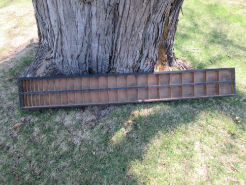 Antique Letterpress Lead & Slug Case - Shadow Box    c82