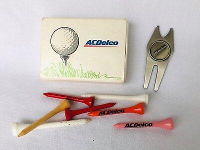 Vintage AC Delco Golf Memorabilia, golf tees, marker, in original box, Flint, MI