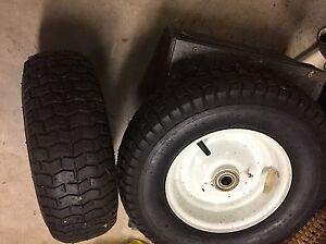 2 Riding lawnmower snow hog tires