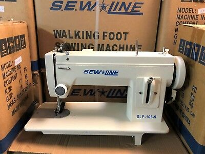 SEWLINE SLP-106-9 NEW 9 INCH BED WALKING FT W/REVERSE  INDUSTRIAL SEWING MACHINE (Bed Industrial Sewing Machine)