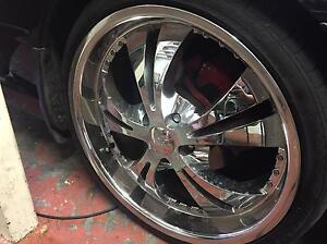 """XHP Saber 20"""" staggered AU-FG wheels with good tyres PERFECT Sunnybank Hills Brisbane South West Preview"""