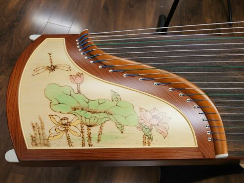 Tiansheng Rosewood Guzheng with Chinese Painting Zither Musical Instrument