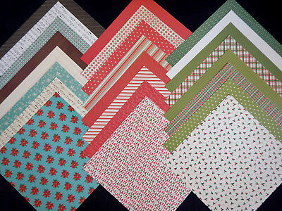 12X12 Scrapbook Paper Cardstock Christmas American Crafts Holiday Memories 24 ](Paper Christmas Crafts)