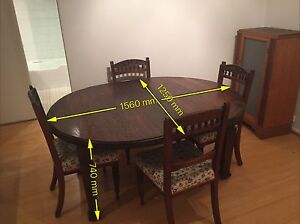 Antique dining table and 8 chairs Artarmon Willoughby Area Preview