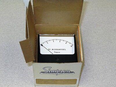 Simpson 04359 Analog Panel Meter 0 - 10 Dc Microamps