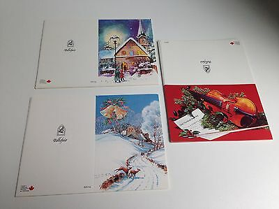 Lot of 30, Vintage Christmas Cards, 3 Designs, Unused Unfolded, NEW OLD STOCK!