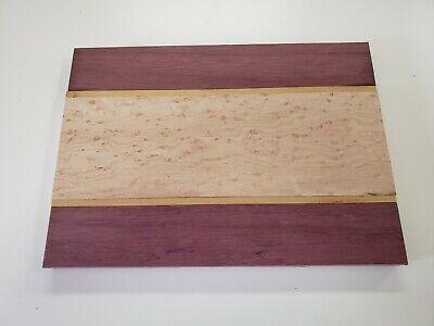 Cutting Board Kit- Cheese, Bread, Food- Purple heart, Birdseye maple,Yellowheart ()