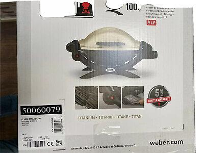 Weber Gasgrill Q1000 Titan Edition Grill - Neu - Originalverpackt