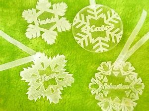 4-x-acrylic-snow-flakes-Christmas-decoration-tree-ornaments-personalised-gift
