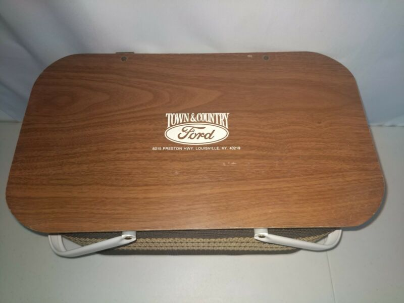 Vintage Redmon Picnic Basket Town & Country Ford Louisville, KY USA made