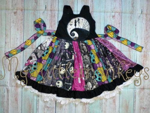 NEW Boutique Jack Skellington Nightmare Before Christmas Halloween Twirl Dress
