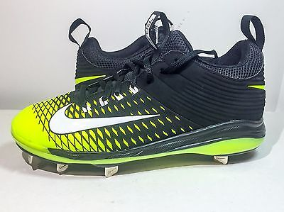 2fe5cf891 BRAND NEW NIKE MIKE TROUT 2 MENS PRO METAL BASEBALL CLEATS Black Neon SIZE  8.5