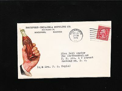 ROCKFORD COCA COLA BOTTLING CO ILLINOIS 1926 ILLUSTRATED ADVERTISING COVER 6X