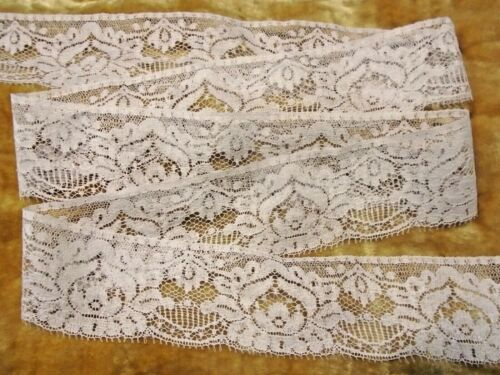 "VINTAGE  1-7/8"" WIDE BORDER LACE - BY THE YARD - COTTON / RAYON - FINE & SOFT"