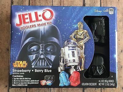 New Star Wars Jello-O Jigglers Mold Kit Strawberry Berry Blue Darth Vader R2D2