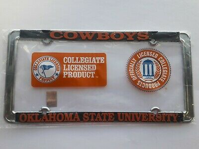 Oklahoma State Cowboys Metal License Plate Frame - Officially Licensed Car Truck
