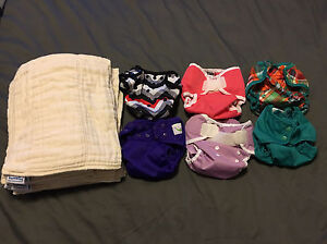 Lot of Cloth Diapers and Accessories