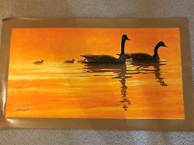 AUTHENTIC ARTAGRAPH OIL PAINTING GOLDEN GEESE BYJOHN SCHOENHERR SIGNED 132/1000 - $30.00