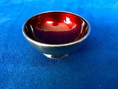 Vintage Denmark  ENAMEL STERLING SILVER Miniature Bowl