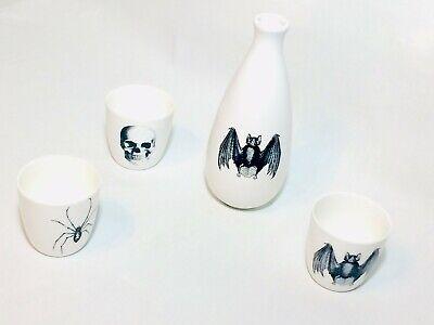 Victorian Gothic Halloween Decor ( GOTHIC Halloween DECOR Skull Spider Bat Vase Three)