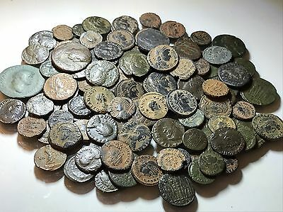 Lot Of 3 X Authentic Higher Grade Ancient Roman Coins. Various Types+Mints.