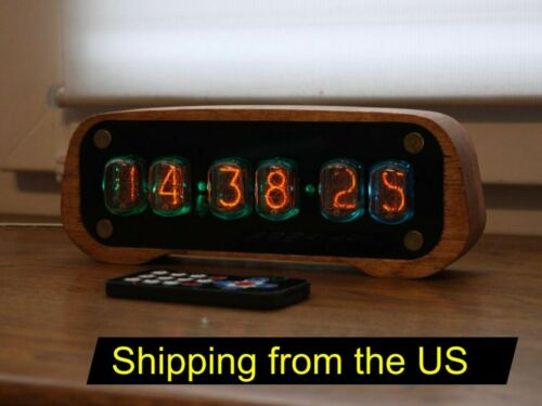 Nixie tube clock with IN-12 and case tubes || Alarm Remote Control Temperature