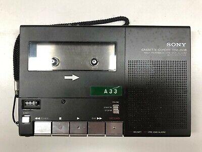 Sony TCM-280 B Vintage Cassette Recorder Player Mono