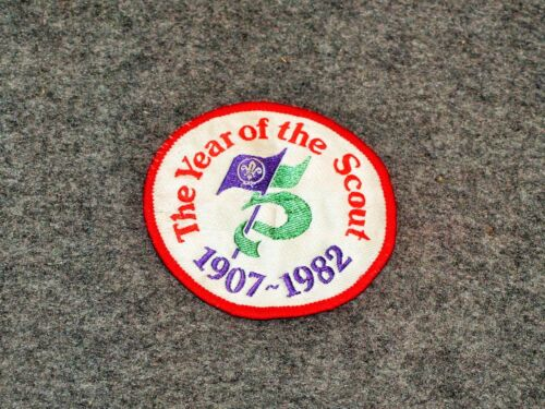 WORLD SCOUTING PATCH…THE YEAR OF THE SCOUT PATCH…75TH ANNIVERSARY 1982