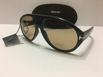 New Authentic Tom Ford Tom N.8 63E Private Collection Black Horn Sunglasses