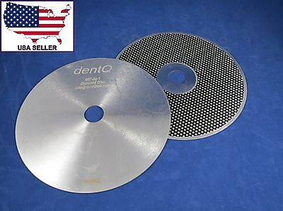 Dental Lab Diamond Model Trimmer Wheel Cutting 10 Inch Kit 2 Discs Dentq