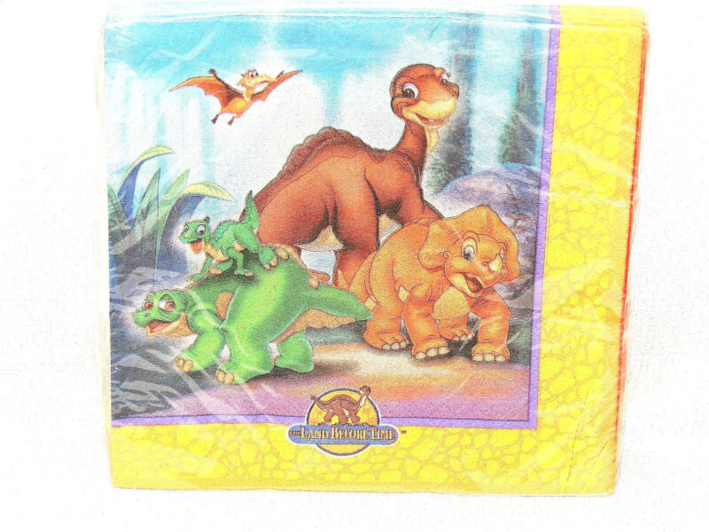 ~THE LAND BEFORE TIME~ 16- PAPER LUNCHEON  NAPKINS   -    PARTY  SUPPLIES