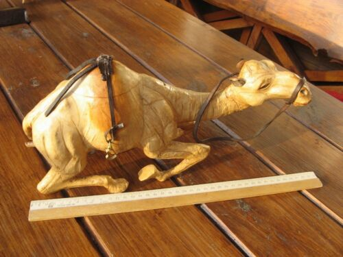 Vintage Leather Wrapped Sitting Camel