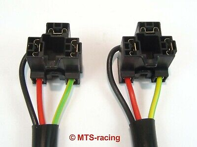 2 x AMP H4 Stecker Anschluss Fassung Sockel Lampensockel Auto KFZ LKW Motorrad (Motorrad Amp)