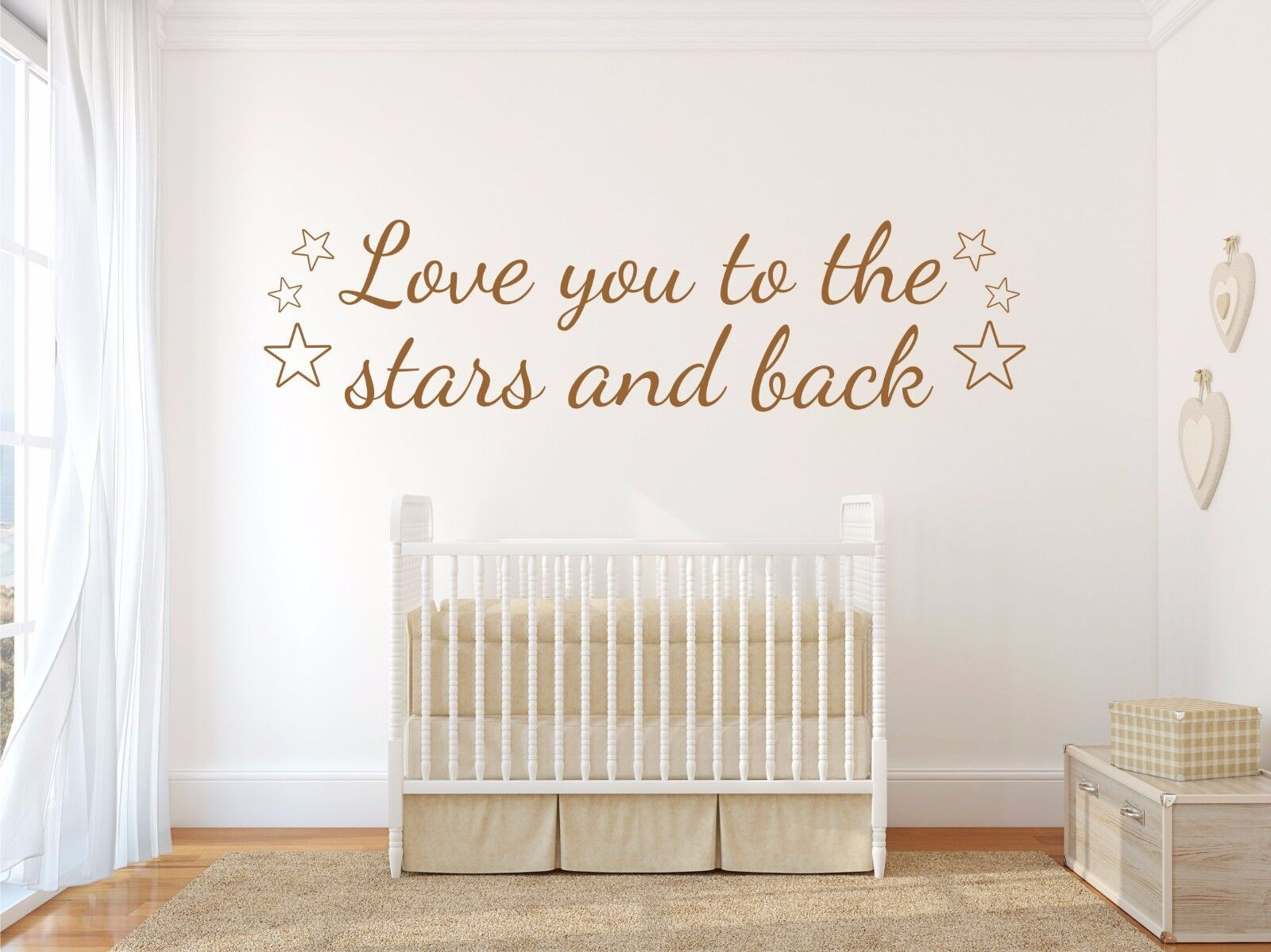 Love You To The Stars And Back Nursery Wall Sticker Decal Art 3 Sizes 12  Colours