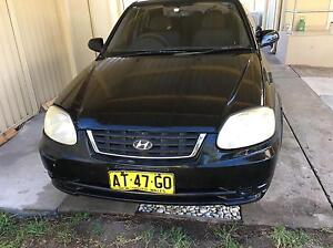 Hyundai Accent 2004 5speed hatch 04/04/17 reg 300000km Padstow Bankstown Area Preview