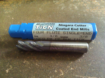 38 4 Flute Regular Length Fine Pitch Cc Ticn Hsco Roughing End Mill Niagara