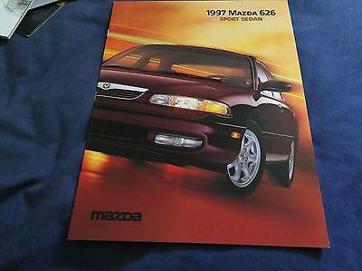 1997 Mazda 626 Sport Sedan USA Market  Brochure Catalog Prospekt