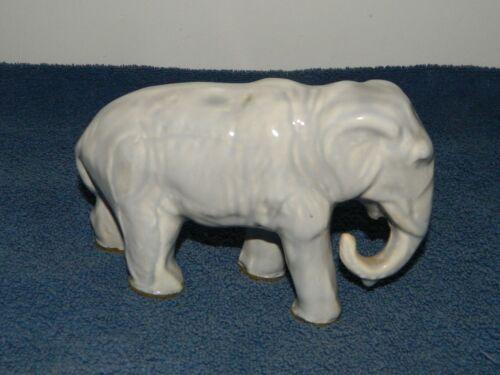 Cool Vintage Art Pottery Figural Gray Elephant Figurine Figure