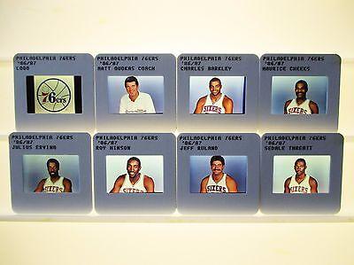 1986/87 NBA TV Slide Set Philadelphia 76ers Charles Barkley ROOKIE Dr J Erving ()