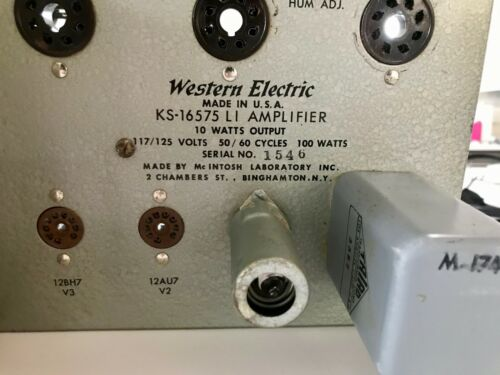 Rare and Legendary Western Electric KS-16575 Tube Amplifier (2 Amplifiers)